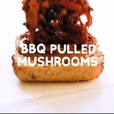 Vegan BBQ Pulled Mushrooms By shredding king oyster mushrooms seasoning with spices and baking you can create a vegan mushroom pulled pork recipe that rivals the real stu. Vegan Dinner Recipes, Whole Food Recipes, Cooking Recipes, Healthy Recipes, Veggie Meat Recipes, Good Vegetarian Recipes, Vegan Soul Food Recipes, Easy Vegan Meals, Family Vegetarian Meals