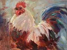 """Wise Guy by Mary Maxam Oil ~ 7"""" x 9"""""""