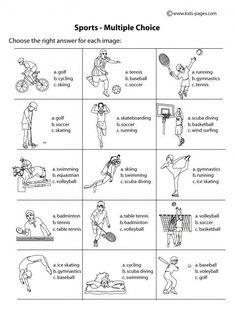 Sport Worksheets For Kids