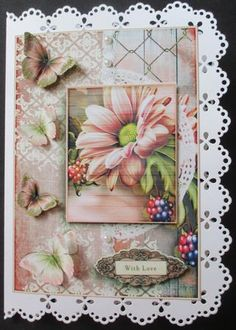 Cardtopper with matching envelope chrysanthemum 637 on Craftsuprint designed by Gertraud Lueckel - made by Davina Rundle - I printed on to matte photo paper. Mounted the topper on to a lace edged card and layered. Added pearls, my chosen sentiment and finished with the very pretty insert. I haven't made the envelope this time. A really gorgeous design, suitable for many occasions.  - Now available for download!