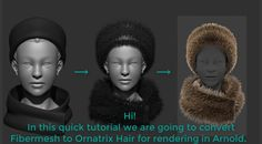 Hi! In this quick tutorial we are going to convert ZBrush's Fibermesh to Ornatrix Hair for rendering in Arnold for Maya.  Product page: ephere.com/plugins/autodesk/maya/ornatrix/ Facebook group: facebook.com/groups/ornatrixmaya/       Music by Bensound.com