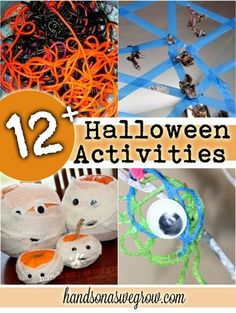 12 Halloween Activities for Kids plus a ton more in links! Some inspiration for this weekend before Halloween I think!