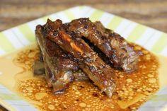 Costillas de cerdo con salsa de miel y mostaza – Varomeando [Manuel Apir] Kitchen Recipes, Cooking Recipes, Tasty, Yummy Food, Pork Recipes, Healthy Cooking, Lamb, Bacon, Brunch
