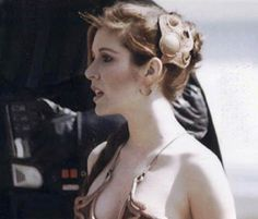 Did anybody else notice she is standing next to Darth Vader who she is never in a scene with him while in that outfit?