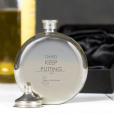 A personalised hip flask is always a popular gift and this one is perfect for any golfer.  Personalised too, to add an extra special touch to your gift.  Shop Now - http://www.omgmygift.co.uk/golf-round-hip-flask-47961-p.asp