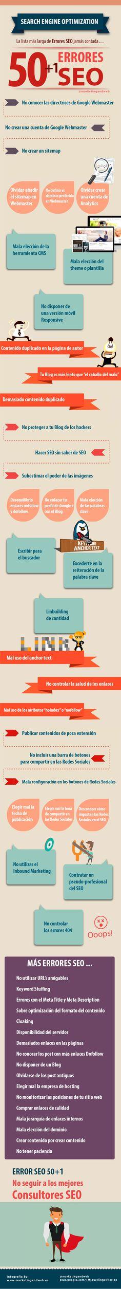 50 errores SEO + 1 #infografia