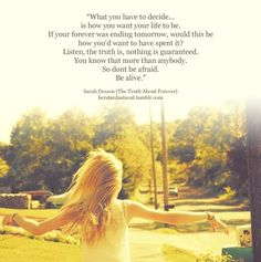 Sarah Dessen: The Truth About Forever. One of my absolute favorite books of all time :)