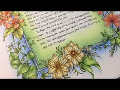 IVY AND THE INKY BUTTERFLY by Johanna Basford - color along - prismacolor pencils - YouTube