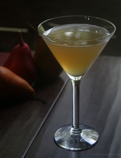 Fall Cocktail: Vanilla Pear Cocktail with Crown Royal Regal Apple Whiskey