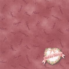 "Quilters Basic 4514-406 by Stof Fabrics: Quilters Basic is a collection by Stof Fabrics. 100% cotton. 43/44"". This fabric is imported from Denmark and features tonal words on a pink mottled background."