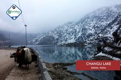 Changu Lake, also known as Tsomgo Lake, is a glacial lake in the East Sikkim of the Indian state of Sikkim, some 40 kilometres from the capital Gangtok. Located at an elevation of 3,753 m, the lake remains frozen during the winter season. The lake surface reflects different colours with change of seasons and is held in great reverence by the local Sikkimese people. Buddhist monks prognosticated after studying the changing colours of the lake.