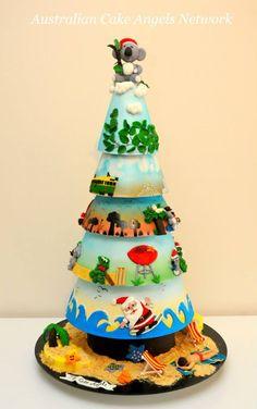 THE CAKE ANGELS CHRISTMAS CAKE