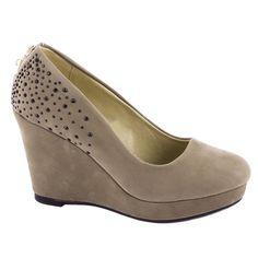 Pantofi cu platforma D78-KAKI - Reducere 50% - Zibra.ro Open Toe, Wedding Heels, Beaded Lace, Bridal Shoes, White Lace, Catwalk, High Heels, Ivory, Wedges
