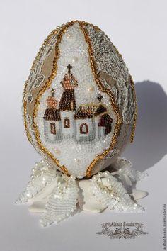 Мастер-класс по вышивке бисером пасхального яйца с подставкой - Ярмарка Мастеров - ручная работа, handmade