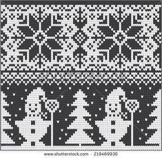 New Knitting Christmas Patterns Crochet Slippers Ideas - Knitting Charts Knitting Charts, Knitting Stitches, Knitting Designs, Knitting Patterns, Crochet Patterns, Crochet Ideas, Knitted Christmas Stockings, Christmas Knitting, Intarsia Patterns