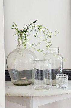 Glassware, greenery