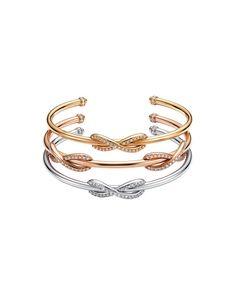 Bracciali in oro giallo, bianco, rosa con diamanti Infinity, Tiffany  -cosmopolitan.it