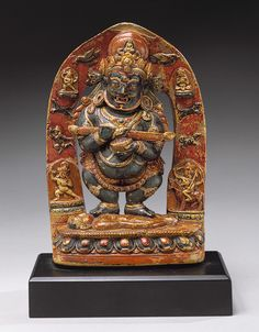 Panjara Mahakala, late 14th–early 15th century  Tibet  Steatite with color and gilding