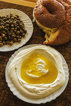 Labaneh Thick, tart, and creamy, this yogurt-like cheese, when eaten together with olive oil, pita bread, and za'atar spice, makes a typical Galilean breakfast.