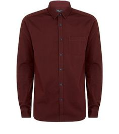As an alternative to white, the Burgundy Long Sleeve Oxford Shirt is equally smart.