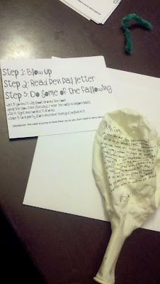 This is such a cute idea...blow it up, write your message and send deflated…