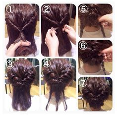 I do this but just grab clips and pin. Work Hairstyles, Pretty Hairstyles, Bad Hair, Hair Day, Bridesmaid Hair, Prom Hair, Short Hair Updo, Short Hair Styles, Wedding Hair And Makeup