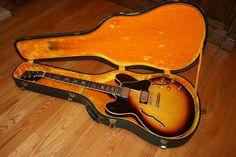 1963 Gibson Sunburst Vintage All Original w/Original Case Gibson Electric Guitar, Electric Guitars, Blue Fingers, Gibson Es 335, Guitar Amp, Bass, Music Instruments, The Originals, Vintage