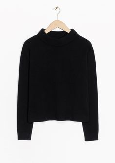 & Other Stories image 2 of Wide Collar Sweater in Black