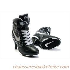Nike Air Force 1 Chaussures Haut Talon Noir / Blanc