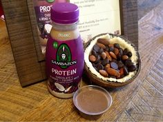 The Protein Chocolate + Almond + Coconut Milk Superfood Smoothie is my new favorite. It tastes as good as it sounds! It's made with a vegan whole food protein and is gluten free. There are lots of healthy omegas (3, 6 and 9) -Sweeps4Bloggers  |  Sambazon
