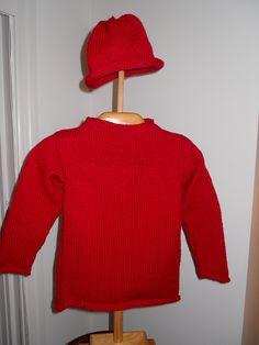 Heart Sweater & Hat Set