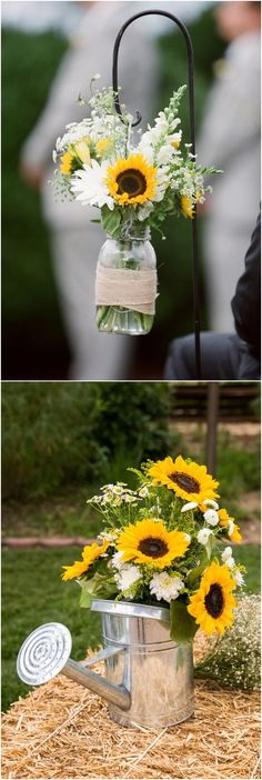 sunflower wedding ideas / http://www.himisspuff.com/country-sunflower-wedding-ideas