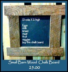 Baby Barn Wood Chalk Board