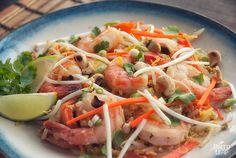 P3 - Shrimp Pad Thai with spaghetti squash - looks DELICIOUS!