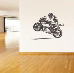 Wall Vinyl Decal Sticker Decals Moto Motorcycle Helmet Moto Gp  z35