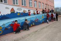 Görele'de Okul Duvarları Rengarenk - Giresun