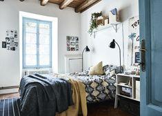 Hier Haben Wir Das Schlafzimmer Mit Textilien In Der Farbkombination Gelb  Und Dunkelgrau Gestaltet. Die
