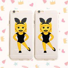 Clear TPU Case Cover - Twinning Emoji – Milkyway