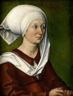 Artist mother's portrait by Albert Durero