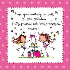 Hope your birthday is full of fun, friends Luxury card printed on shiny x square card. Happy Birthday Wishes Quotes, Sister Birthday Quotes, Birthday Sentiments, Happy Birthday Pictures, Birthday Wishes Cards, Bday Cards, Happy Birthday Greetings, Funny Birthday Cards, Happy Birthday Sister Funny