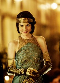 Lady Mary Crawley - Michelle Dockery in Downton Abbey Season 6, set between 1925 and 1927 (TV series). ..rh