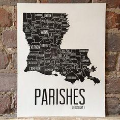 Louisiana Parish Print
