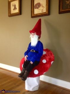 Gnome Sitting on a Toadstool - 2012 Halloween Costume Contest