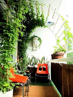 9 Good-Looking Clever Tips: Backyard Garden Patio House backyard garden patio house.Backyard Garden On A Budget Patio Makeover simple backyard garden decks.Backyard Garden On A Budget Patio Makeover. Apartment Balcony Garden, Small Balcony Garden, Apartment Balconies, Terrace Garden, Balcony Gardening, Balcony Plants, Balcony Privacy, Small Balconies, Balcony Shade