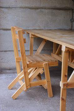 Enzo Mari Autoprogetazzione dining table
