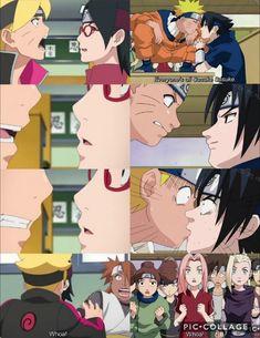 Boruto and Sarada's Kiss VS Naruto and Sasuke's ❤️ As parents, as kids  History repeats itself ❤️❤️❤️ Episode 38