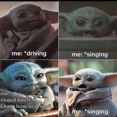 Funniest Baby Yoda Memes Ever, Collected Baby Yoda Memes, Star Wars Mandalorian Memes, The Most Relatable Baby Yoda Memes Really Funny Memes, Stupid Funny Memes, Funny Relatable Memes, Hilarious, Funny Stuff, Funny Disney Memes, Funny Puns, Yoda Funny, Yoda Meme