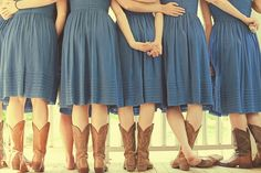 Cowgirl Bridesmaids