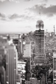 New York City Photography - Black and White Manhattan Skyline at Dusk http://ift.tt/1xLnjjC