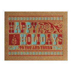Elum holiday woodblock